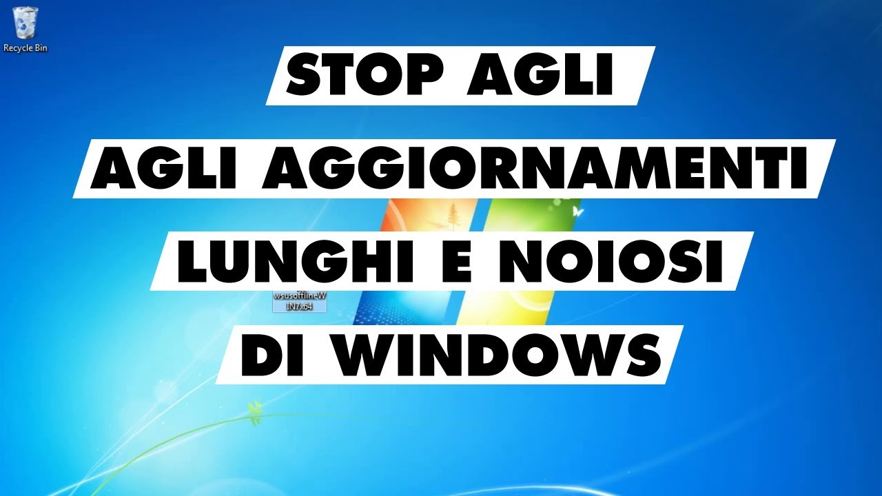 Come aggiornare Windows con WSUS Offline