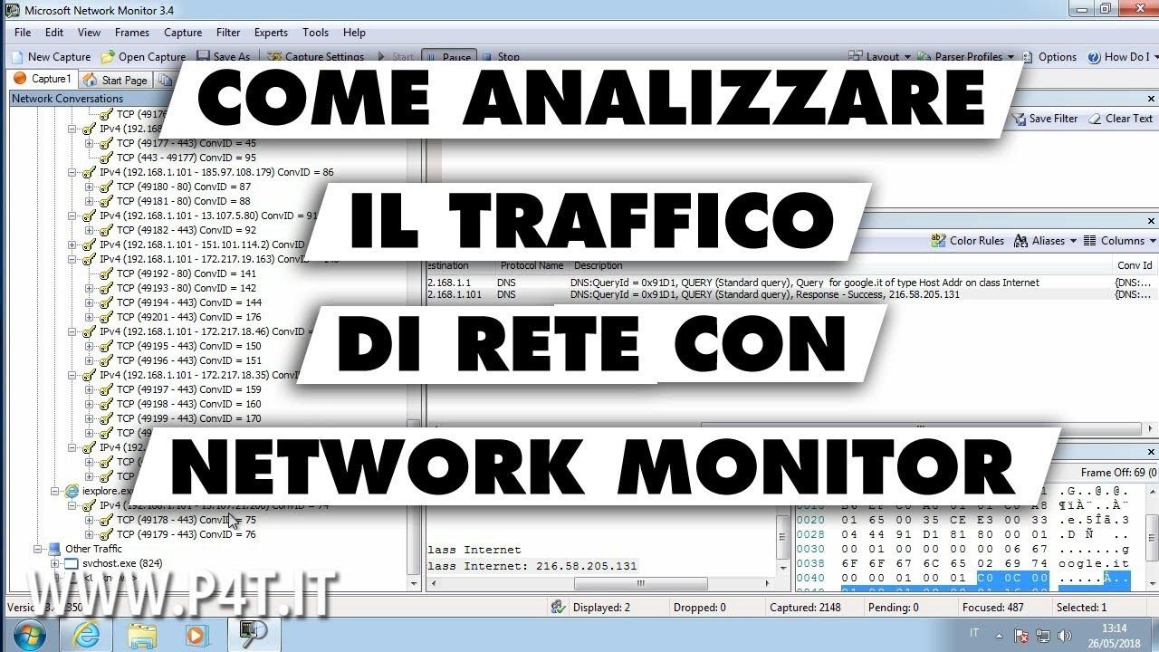 Come analizzare il traffico di rete con Network Monitor 3.4